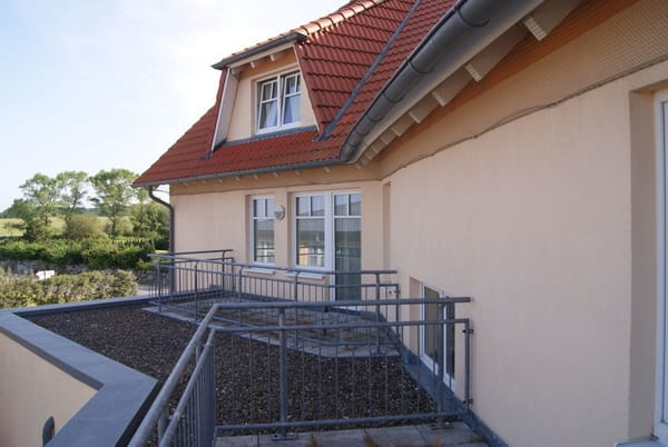 Blick auf den Balkon der Whg 306 von anderer Seite