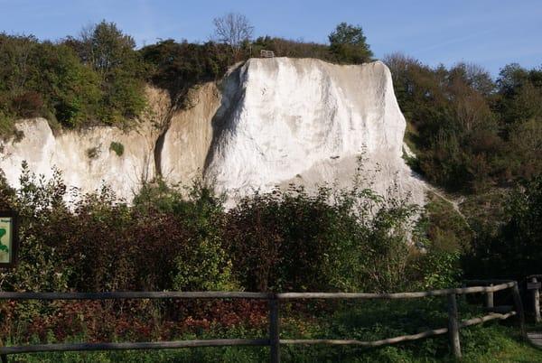 der Kreidebruch des Nationalparks bei Neddesitz