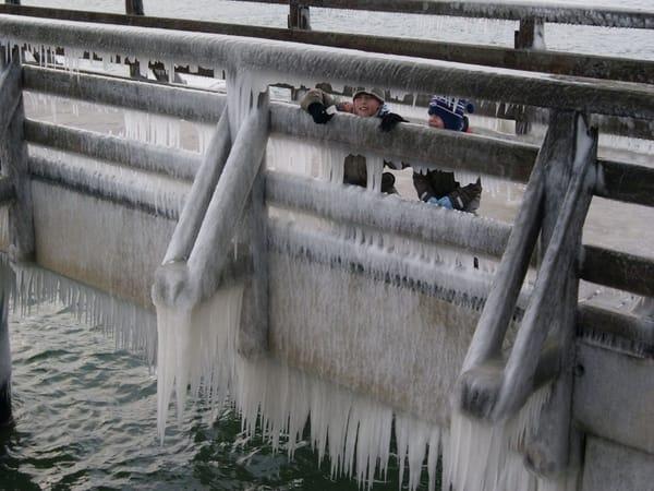 Winterfreuden auf der Seebrücke Heiligendamm