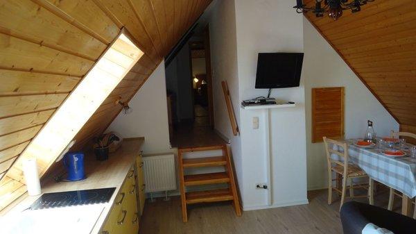Wohnbereich mit Sat- TV, DVD, Radio und CD- Spieler