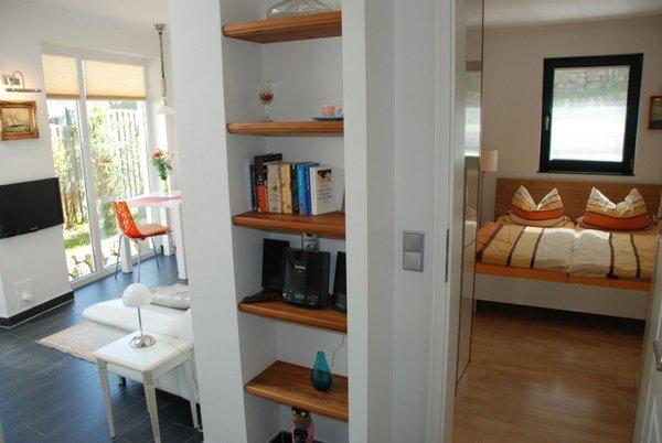 Blick in den Wohn-Schlafbereich