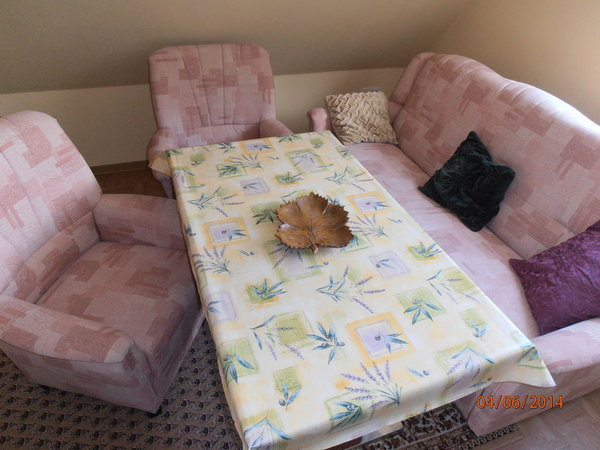 Sitzecke im Wohn-/Schlafraum