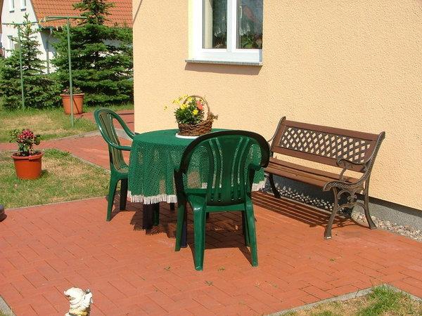 Sitzmöglichkeit im Freien