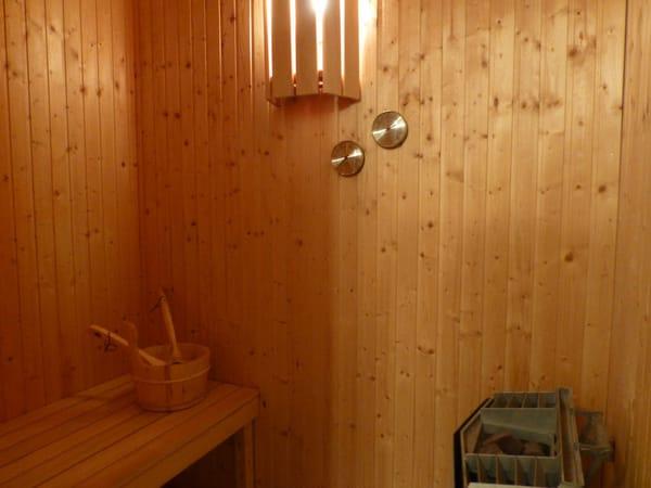 Ferienhaus Residenz zu den 3 Tannen Zingst - kleine Sauna für 2 Personen im Obergeschoss