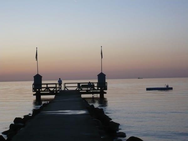 Abendstimmung an der Steiner Strandmole