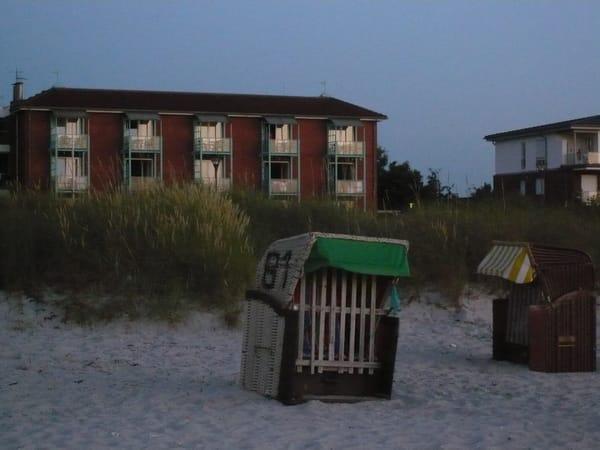 Strandansicht des Appartementhauses