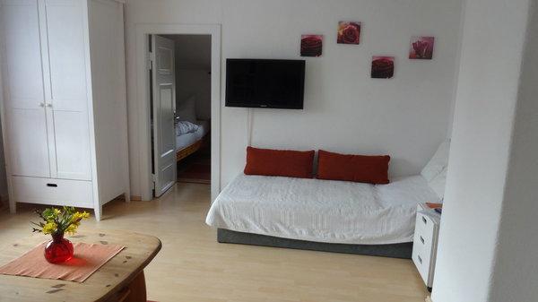 Wohnzimmer mit möglicher Aufbettung