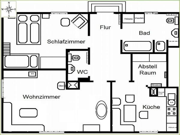 Grundriss Wohnung im Erdgeschoss
