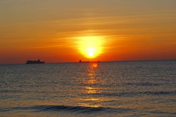 Sonnenuntergang Strandaufgang
