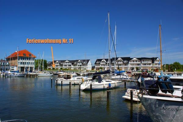 Ferienwohnung Hafenidyll Nr. 11 mit Hafenblick