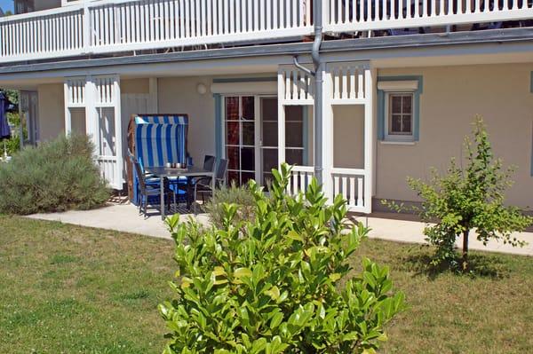 Ferienwohnung Hafenidyll Nr. 11 - Sonnenterrasse mit Hafenblick