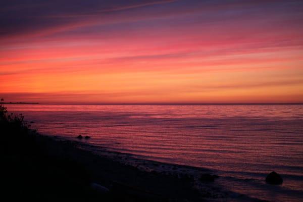Abendstimmung an der Küste von Hubertsberg