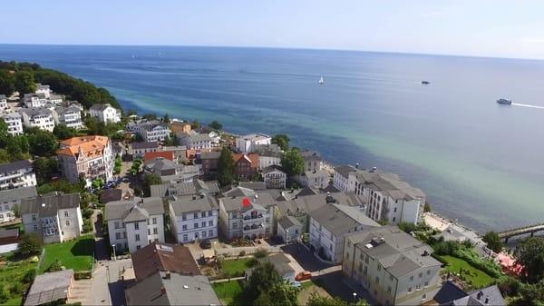 Die Villa Fernsicht liegt idyllisch in der Altstadt von Sassnitz