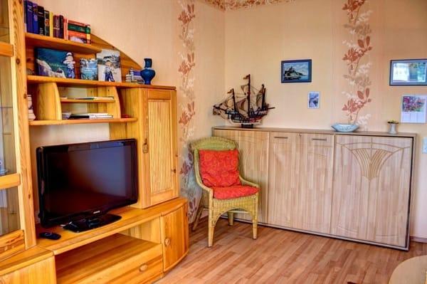 Wandbett im Wohnzimmer