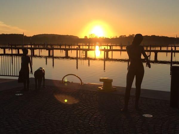 Sonnenuntergang und Blick auf den Selliner See