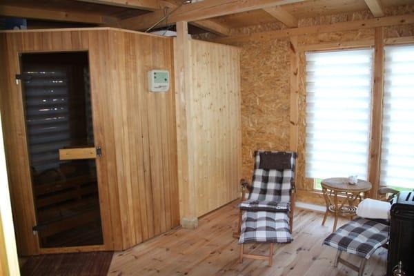 Sauna  mit Ruheraum