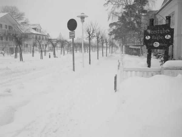 Baabe im Schnee