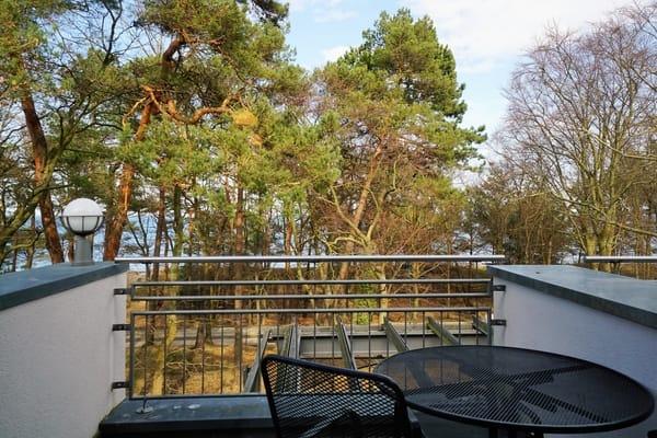 Ausblick vom großen Balkon Richtung Ostsee