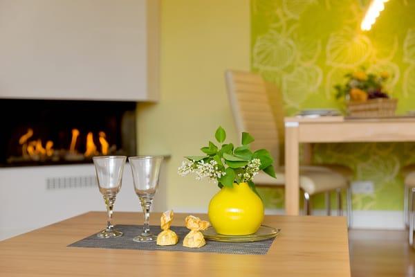 Ob romantische Stunden zu zweit oder ein kuscheliger Abend mit der ganzen Familie, das Appartement lässt keine Wünsche unerfüllt.