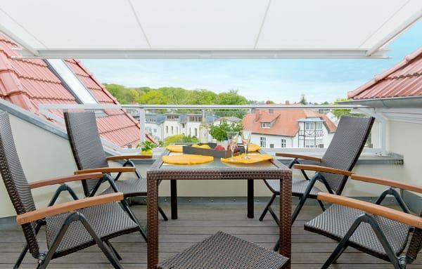 ... und einen fanatstischen Ausblick über das Seebad Zinnowitz.