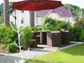 Hier wird Ihnen auf 66qm eine komplett Allergiker freundlich ausgestattete Ferienwohnung mit eigener Terrasse und Gartenanteil geboten, ...
