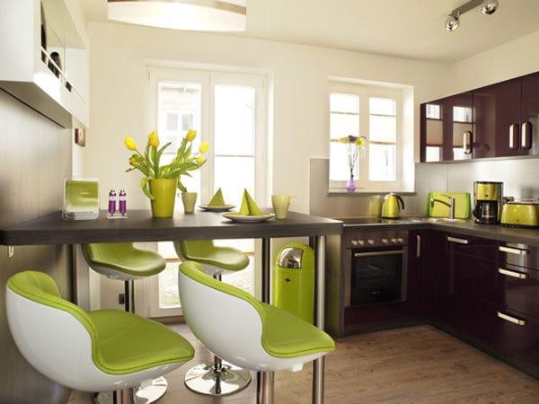 integrierte Küche mit Eßbar
