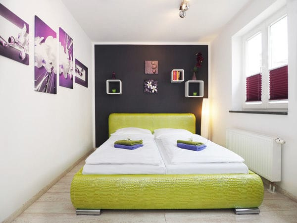 zweites Schlafzimmer ebenfalls mit Doppelbett