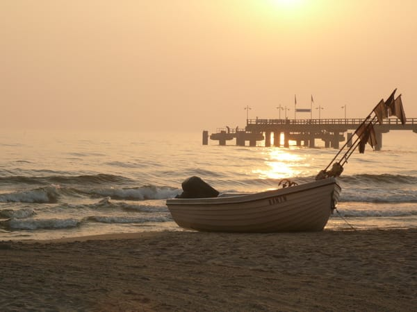 Morgensonne am Strand