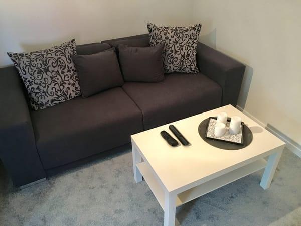 Gemütliches Sofa im Wohnbereich