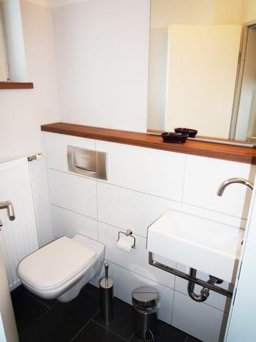 Hier der Blick in das Gäste-WC.