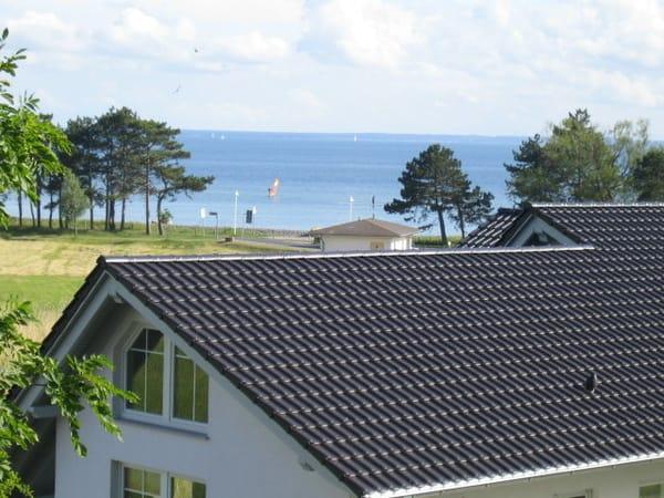Blick vom Haus auf die Ostsee (Greifswalder Bodden)