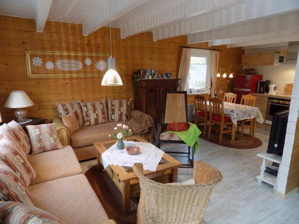 Die kombinierte Wohnküche im Erdgeschoss