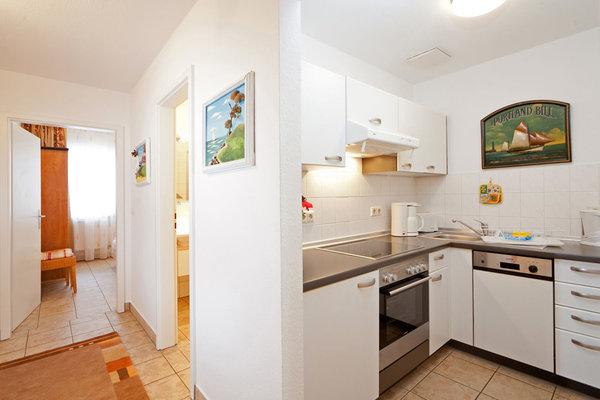 Hier der Blick zur separaten Küchenzeile.