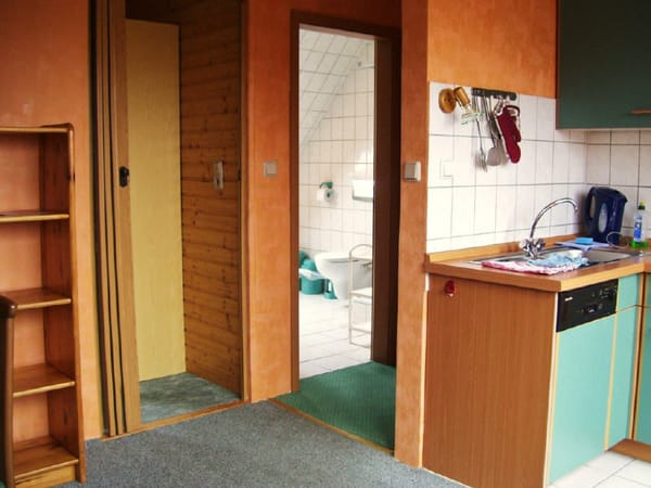 Ausschnitt Wohnküche zum Bad