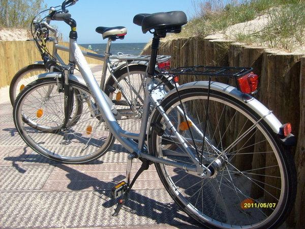 2 Fahrräder stehen kostenlos zur Verfügung