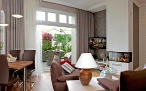 Das geschmackvolle 2 Raum-Appartement im Erdgeschoss ist das perfekte Urlaubsdomizil für Paare als auch wegen seiner 4 vollwertigen Betten für zwei Paare und Familien.