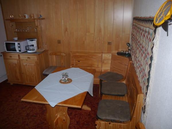 Sitzecke im Wohnraum/Küche