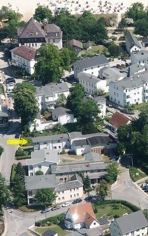 Luftbild: ca.200m bis zum Strand