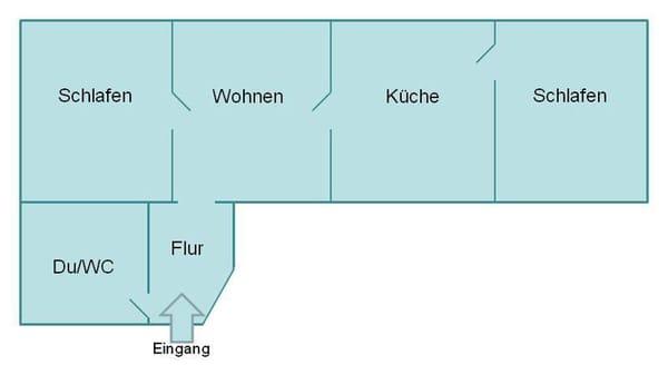 Grundriß für Wohnung 8 in der Villa Iduna.