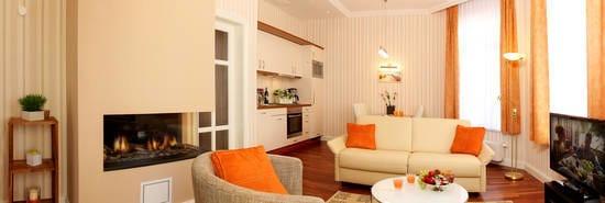 Das im Erdgeschoss gelegene 2-Zimmer-Appartement bietet mit seinen 50 Quadratmetern Wohnfläche den gebührenden Platz für einen erholsamen Urlaub.