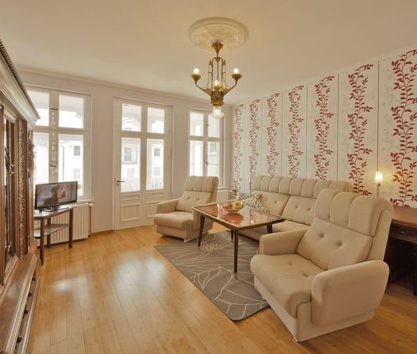 Villa See-Eck FeWo 1.OG - Wohnzimmer