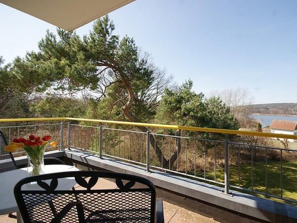 Blick vom Balkon zum Schloonsee