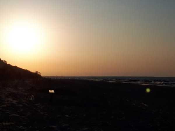 Sonnenuntergang am Zempiner Strand