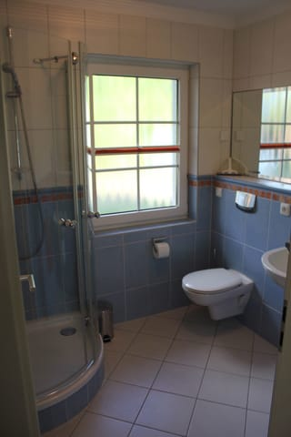 Gäste-WC mit Dusche im EG