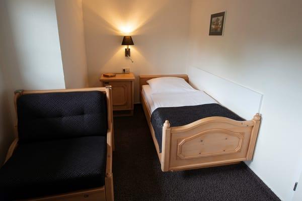 Detailansicht Einzelzimmer, hier Schlafbereich