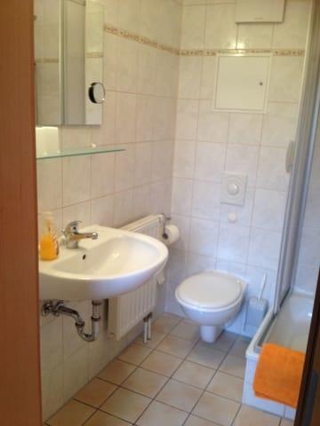 Dusche, WC, Waschmaschine