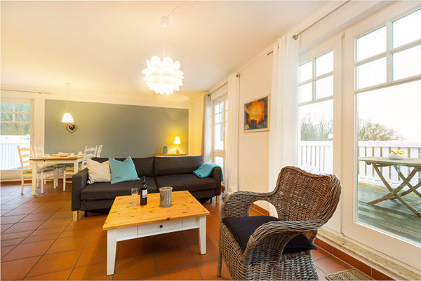Ein großes, helles Penthouse in Komfortausstattung ...