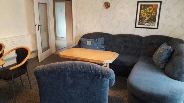 Wohnzimmer mit Eckcouch zum ausziehen