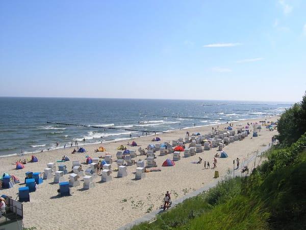 Der weiße Ostseestrand ist fast 40 km lang