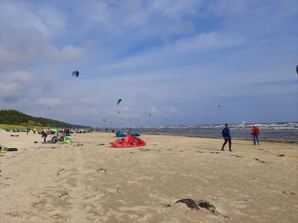 Kite-Surfer auf der Ostsee